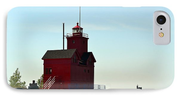 Holland Harbor Light Vignette IPhone Case by Michelle Calkins