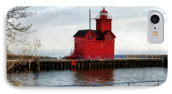Holland Michigan Channel And Lighthouse IPhone Case by Michelle Calkins