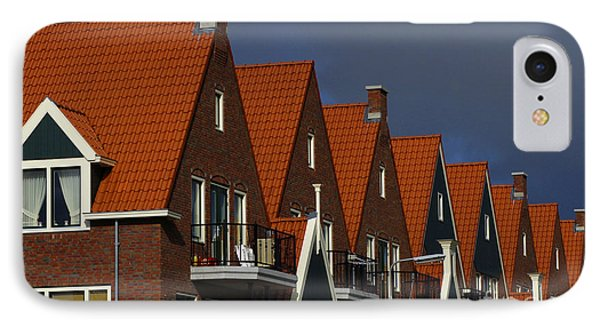 Holland Row Of Roof Tops Phone Case by Bob Christopher