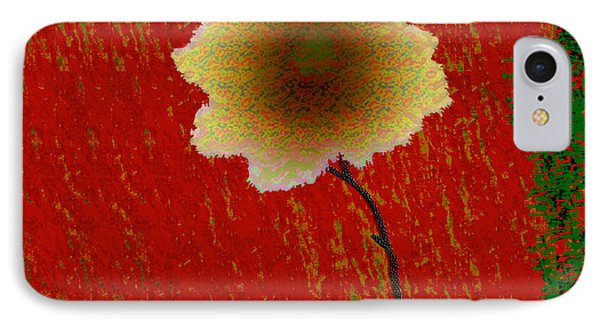 IPhone Case featuring the digital art Hollyhock by Asok Mukhopadhyay