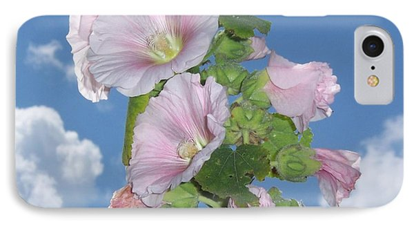 IPhone Case featuring the photograph Hollyhock by John Mathews