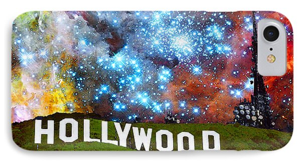 Hollywood 2 - Home Of The Stars By Sharon Cummings IPhone Case by Sharon Cummings