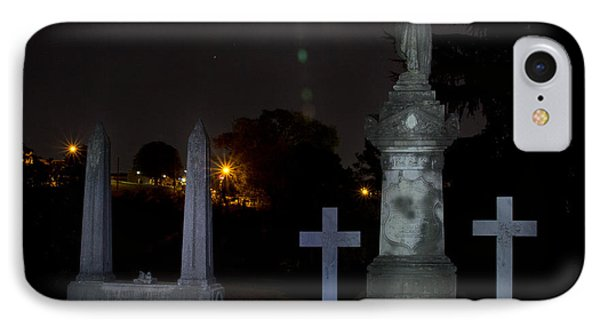 Hollywood Cemetery Moon Burst IPhone Case by Jemmy Archer