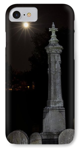Hollywood Cemetery Moon Rise IPhone Case by Jemmy Archer