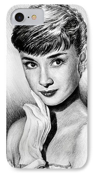 Hollywood Greats Hepburn IPhone Case by Andrew Read