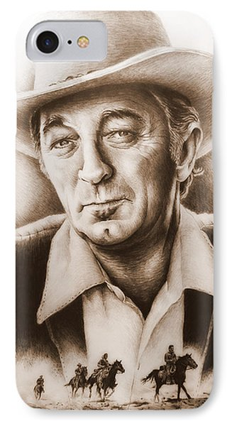 Hollywood Greats Mitchum Phone Case by Andrew Read