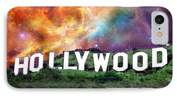 Hollywood - Home Of The Stars By Sharon Cummings IPhone Case by Sharon Cummings