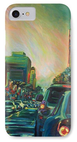 Hollywood Sunshower IPhone Case by Bonnie Lambert
