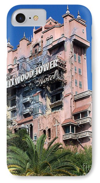 Hollywood Tower Hotel IPhone Case by Tom Doud