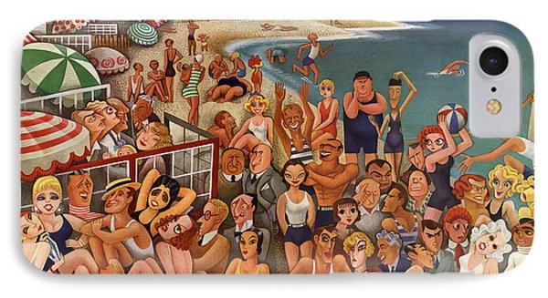 Hollywood's Malibu Beach Scene IPhone Case by Miguel Covarrubias