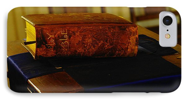 Holy Bible In Lincoln City Phone Case by Jeff Swan