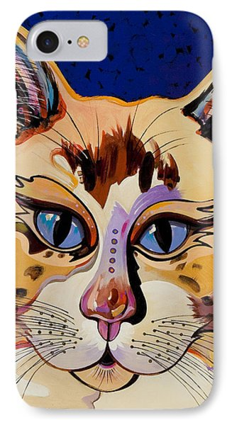 IPhone Case featuring the painting Holy Cat by Bob Coonts