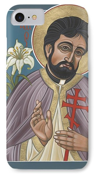 IPhone Case featuring the painting Holy New Martyr Father John Karastamatis Of Santa Cruz 216 by William Hart McNichols