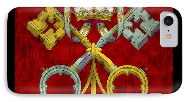 Holy See Flag IPhone Case by World Art Prints And Designs