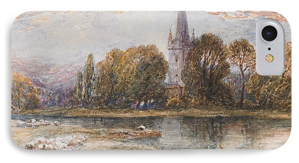 Holy Trinity Church On The Banks If The River Avon Stratford Upon Avon IPhone Case by Myles Birket Foster