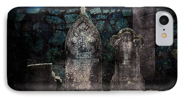 Holyhood Cemetery Stones IPhone Case by Sonja Quintero