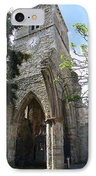 Holyrood Church Memorial In Southampton IPhone Case by Susan Alvaro