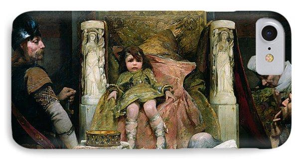 Homage To Clovis II 635-657 Oil On Canvas IPhone Case by Albert Pierre Rene Maignan