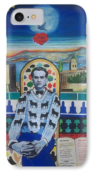 Homage To Garcia Lorca IPhone Case by Karim Lachheb