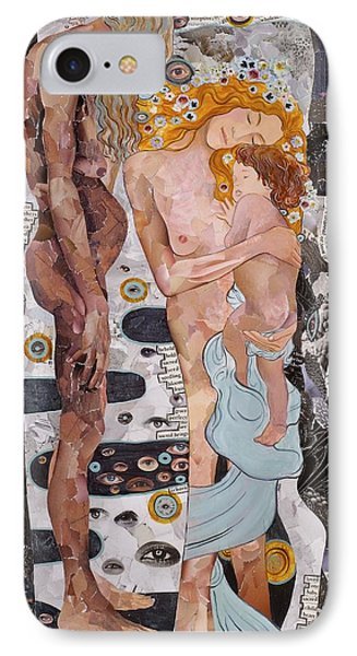 Homage To Klimt's Three Ages Of Woman IPhone Case by Sheri Howe