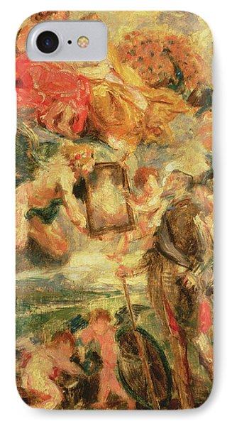 Homage To Rubens IPhone Case by Ignace Henri Jean Fantin-Latour