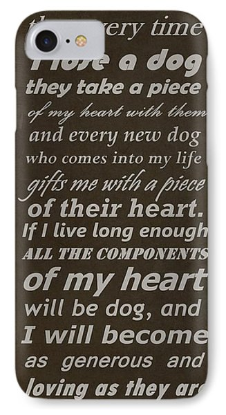 Homage To The Dogs In Our Lives Phone Case by Movie Poster Prints