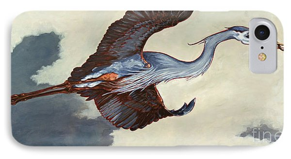 Home Bound Heron Phone Case by Eve McCauley