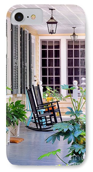 Veranda - Charleston, S C By Travel Photographer David Perry Lawrence IPhone Case