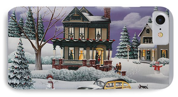 Home For The Holidays 2 IPhone Case by Catherine Holman