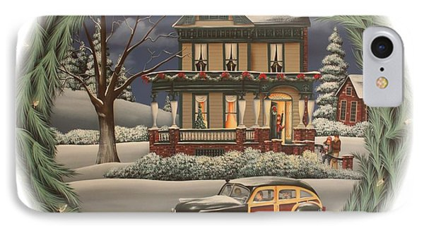 Home For The Holidays IPhone Case by Catherine Holman