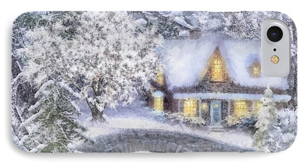 Home For The Holidays IPhone Case by Mo T