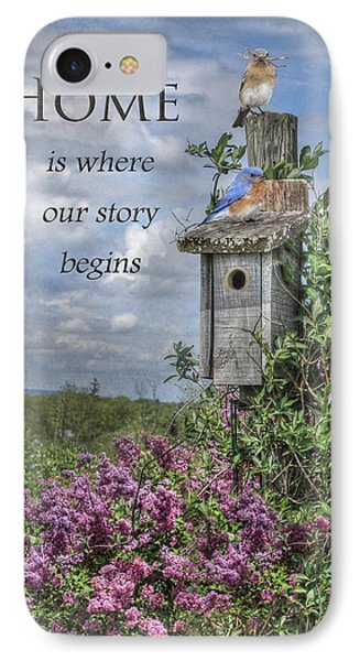 Home Is Where Phone Case by Lori Deiter