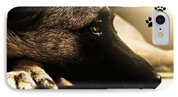 Home Is Where The Dog Is IPhone Case by Clare Bevan