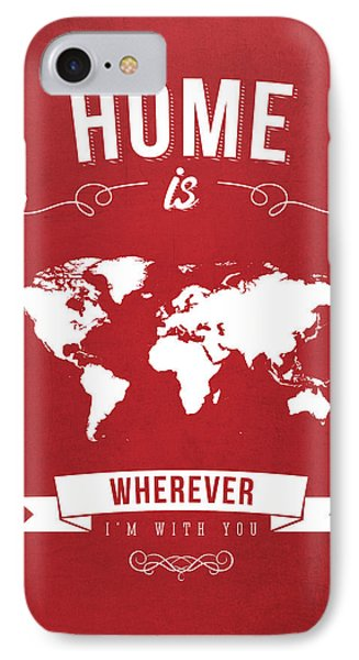 Home - Red IPhone Case by Aged Pixel