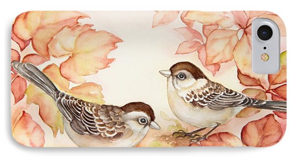Home Sparrows IPhone Case by Inese Poga