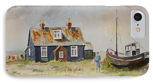 IPhone Case featuring the painting Home Sweet Home Dungeness by Beatrice Cloake
