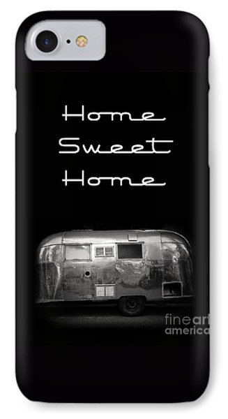 Home Sweet Home Vintage Airstream Phone Case by Edward Fielding
