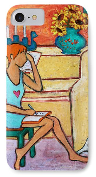 IPhone Case featuring the painting Home Where My Heart Is Iv by Xueling Zou
