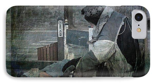Homeless Man Phone Case by Geoffrey Coelho