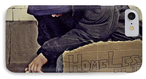 Homeless Please Help IPhone Case by Sarah Loft