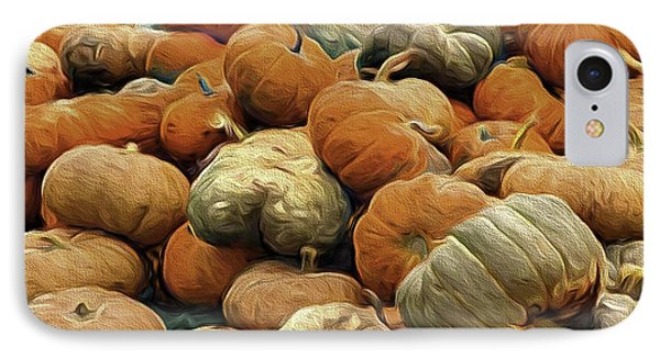 Homeless Pumpkins IPhone Case by Nancy Marie Ricketts