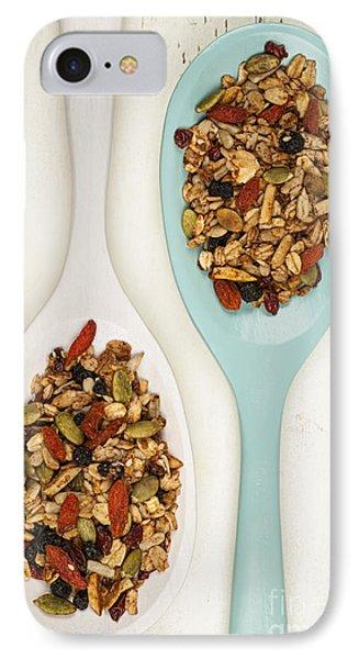 Homemade Granola In Spoons IPhone Case by Elena Elisseeva