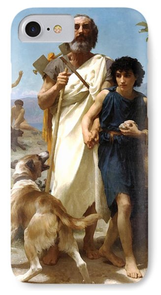 Homer And His Guide Phone Case by William Bouguereau