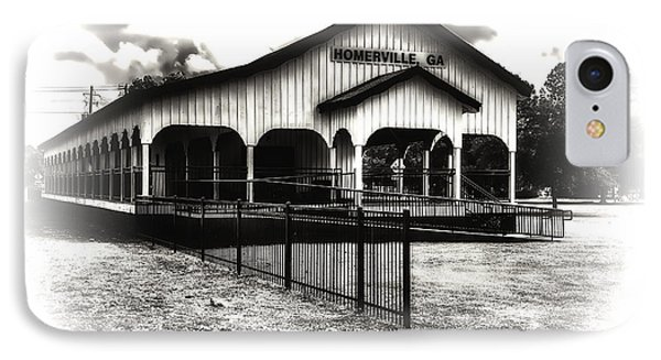 Homerville Railroad Depot IPhone Case by Michael White
