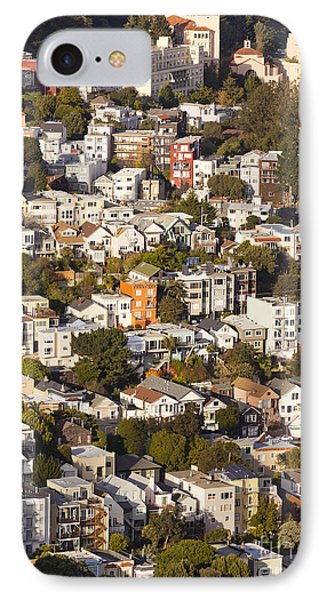 Homes Of San Francisco Phone Case by B Christopher