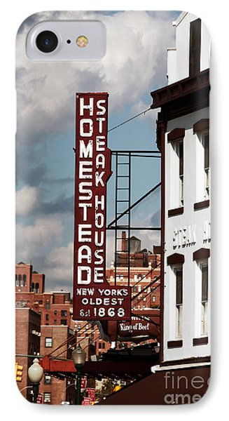 Homestead Steakhouse Phone Case by John Rizzuto