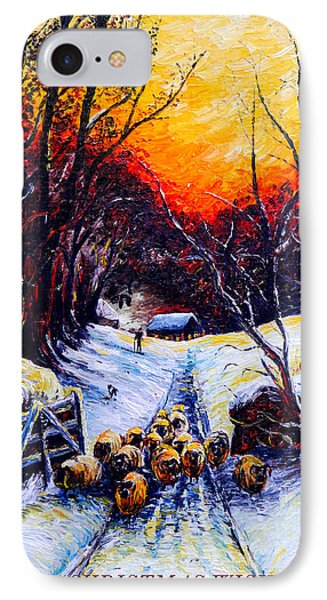 Homeward Bound Christmas Card IPhone Case by Andrew Read