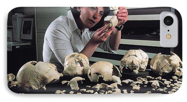 Hominin Skulls From Sima De Los Huesos IPhone Case by Javier Trueba/msf