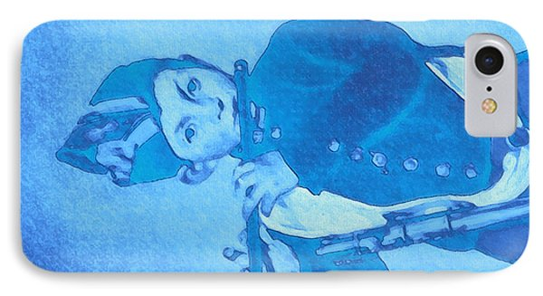 IPhone Case featuring the painting Hommage To Manet - The Wrongheaded Fifer By Briex by Nop Briex