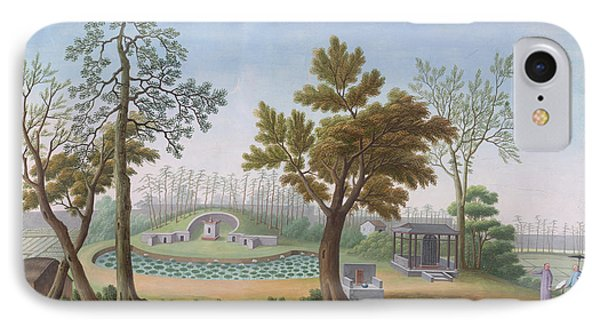 Honam Temple- Garden And Fields IPhone Case by British Library